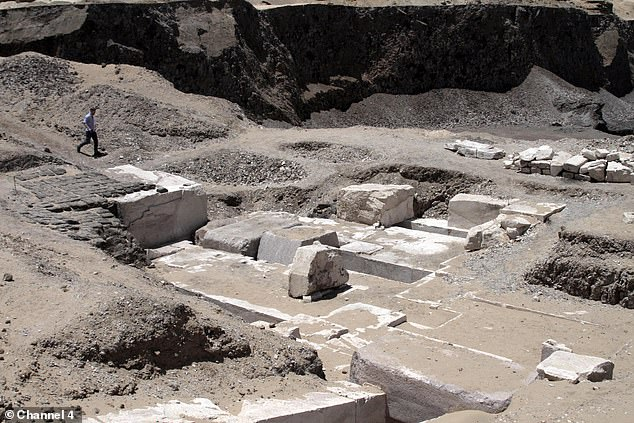 The burial complex, which once had a pyramid above it, was uncovered in 2017. The pyramid eroded away after the precious limestone covering was removed, leaving the mud-stones exposed to the elements