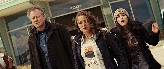 Comic movies: Natalie was previously part of the Marvel Cinematic Universe after starring as Jane Foster in Thor (2011) and it's sequel The Dark World (2013); with Stellan Skarsgård (L) and Kat Dennings (R) in Thor (2011)