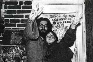 """""""Down with the army, say no to war"""" … Soviet Hippies."""