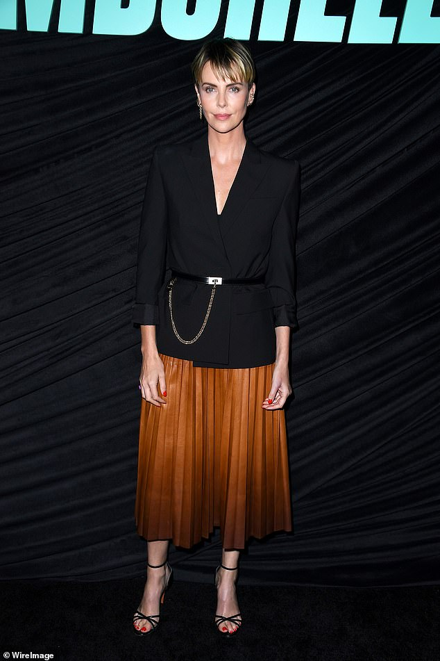 On Sunday, Charlize Theron, 44, had her acting skills put to the test at a special screening of her new drama, Bombshell, in West Hollywood, California