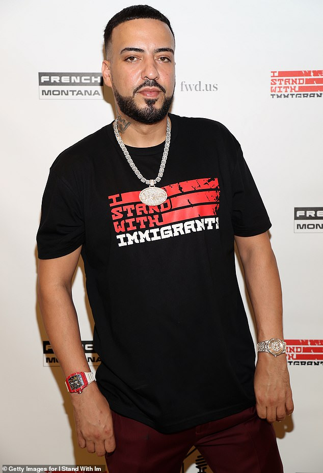 Health scare: French Montana, 35, was rushed by ambulance to a hospital after suffering from breathing issues and nausea at his home in Calabassas on Thursday