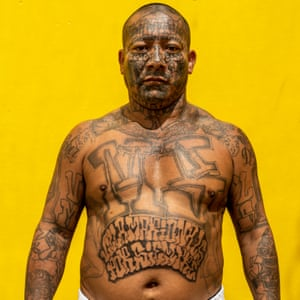 Wilbur, 43, stands for a portrait at the Chalatenango penal centre