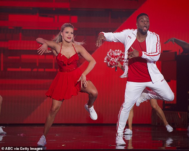 Great effort: Kel and Witney Carson, 26, also gave Hannah a run for her money