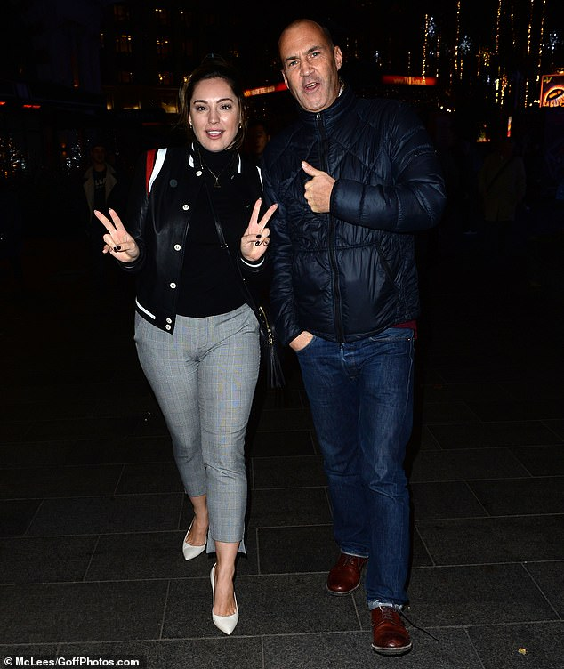 Low-key look:Joining his former colleague, Vaughan, 53, sported a quilted blue jacket and matching jeans