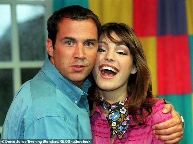 Old times: Kelly spent six-months presenting Channel 4's legendary live morning show at the Tower Hamlets venue alongside Vaughan in 1999