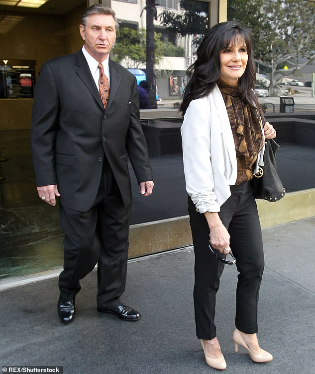 Abuse allegations: The custody ruling came shortly after Britney's father Jamie Spears (L) reportedly assaulted her son Preston; pictured with mother Lynne Spears in 2012