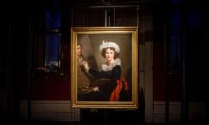 Self Portrait by Élisabeth Vigée Le Brun installed in the show.