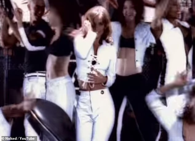 Throwback: Naked was the third single from her the star's first solo album and charted at number five in the UK (Louise is pictured dancing in the song's video)