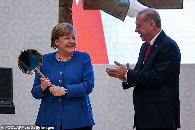 German Chancellor Angela Merkel met with Turkish President Recep Tayyip Erdogan in Istanbul on Friday