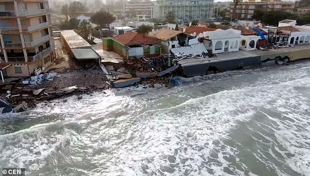 Damage on the Costa Blanca coast in the wake of Storm Gloria