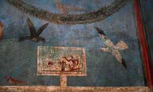 A fresco inside the House of Orchard in Pompeii.