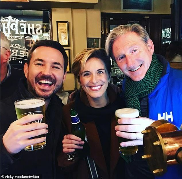 Is that you, H? The Line Of Duty stars reunited for a boozy night out recently.. and fans thought they had spotted a MAJOR spoiler as Adrian donned a H/H jacket