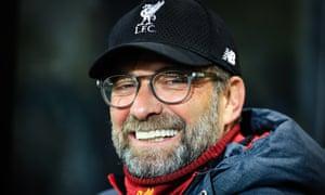 Jürgen Klopp smiles during Liverpool's 1-0 victory over Norwich last Saturday.