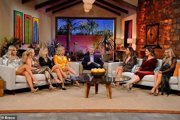 She quit: Last month, Judge (2-L) turned down Bravo's 'humiliating' offer to return to the 15th season at a $200K 'friend' rate for just three appearances - rather than her usual $900K per season as a full Housewife (pictured November 9)
