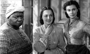 Hattie McDaniel, Olivia de Havilland and Vivien Leigh in Gone With the Wind.