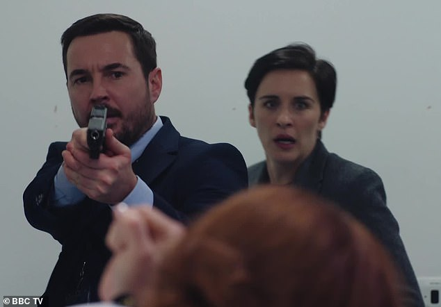 Back in action: Line of Duty's Martin, 35, has fueled fan excitement for the upcoming sixth series as he shared a snap of the script's first episode