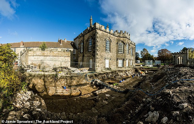 The team spent five months carefully unearthing the foundations of the chapel — including part of the floor, the buttresses along the sides of the chapel and walls that measured 4.9 feet (1.5 m) thick by 39 feet (12 m) wide and 131 feet (40 m) long