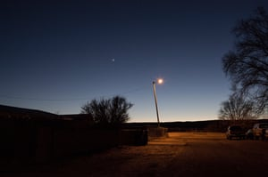 A Grants Moon, 2018, Grants, New Mexico. This photograph was captured in Grants, New Mexico, near a trailer park on Interstate 40.
