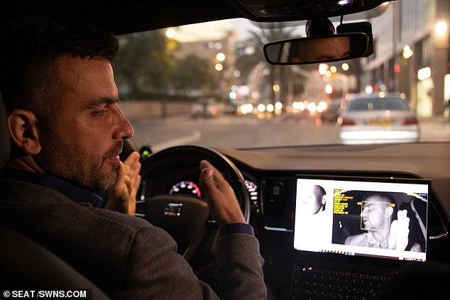 The Tel Aviv-based company says an alert is sounded if the system detects the driver is asleep. It also works if it spots the driver is distracted by their mobile phone