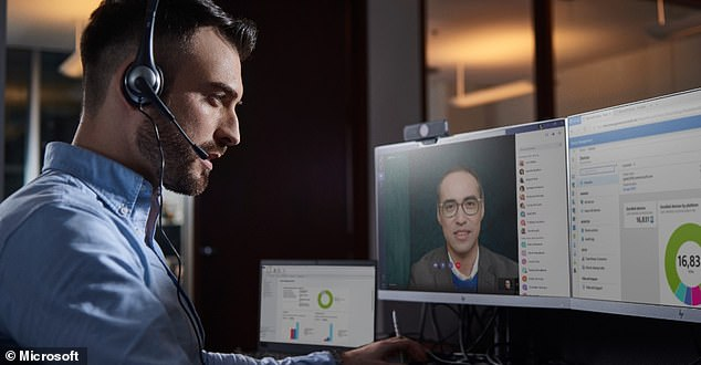 Microsoft demonstrated an upcoming feature for its productivity software Teams, which will allow users to filter out background noise during conference calls while working from home or other potentially less professional settings
