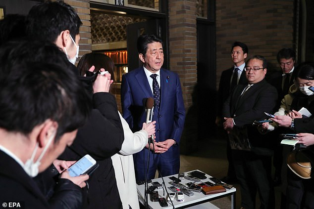 Japanese prime minister Shinzo Abe (pictured) and International Olympic Committee (IOC) president Thomas Bach have agreed to postpone the Tokyo 2020 Olympics for one year due to the coronavirus pandemic