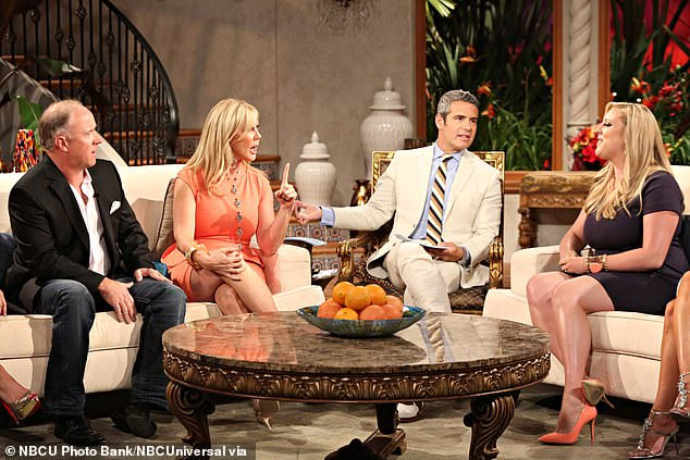 The reunions he is known for:Andy is known for hosting the Real Housewives reunions for Bravo. Seen with the stars of The Real Housewives Of Orange County during season eight