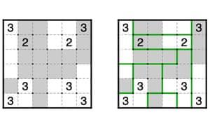 Double Choco: example puzzle.