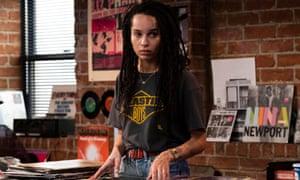 Zoë Kravitz  as Robyn in a music shop in a scene from High Fidelity