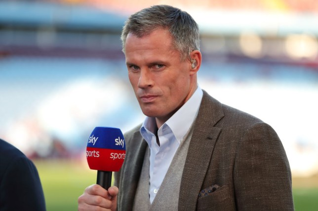 BIRMINGHAM, ENGLAND - AUGUST 23: Jamie Carragher working for Sky Sports during the Premier League match between Aston Villa and Everton FC at Villa Park on August 23, 2019 in Birmingham, United Kingdom. (Photo by James Williamson - AMA/Getty Images)