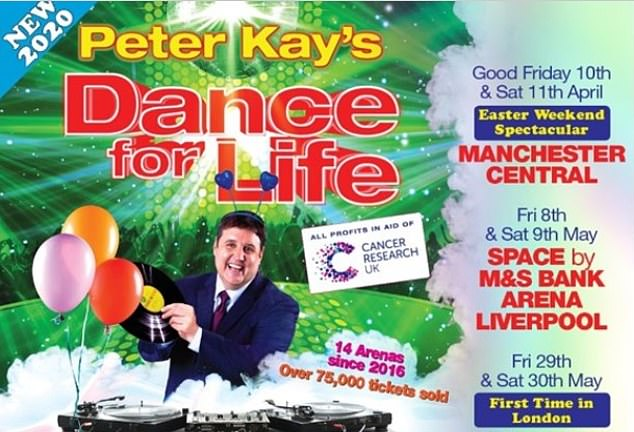 Big return: The Dance For Life event - to raise month for Cancer Research UK - was planned to return with Peter as the DJ