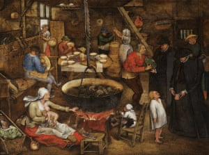 """Visit to a Farmhouse, c1620-30, by Pieter Brueghel the younger"""