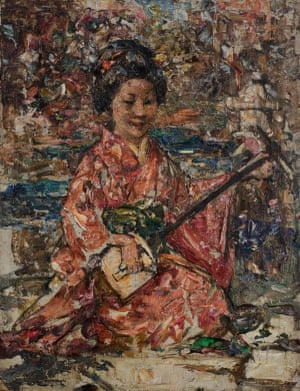 """Japanese Musician, 1921–1925, oil on canvas, Edward Atkinson Hornel, Broughton House & Garden"""