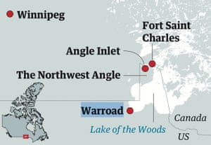 northwest angle minnesota map