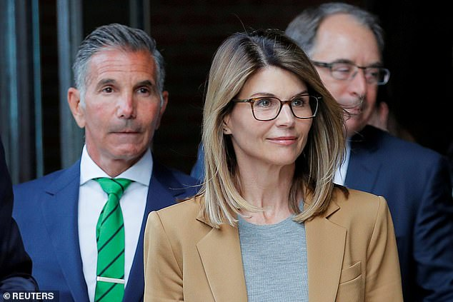 Guilty:Both Loughlin and husband Mossimo Giannulli agreed to plead guilty last month, with Louglin expected to serve two months in prison and Giannulli five