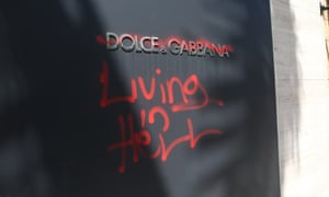 The Dolce & Gabbana store on Rodeo Drive in Los Angeles