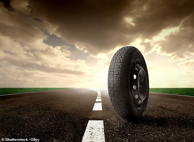 Old tyres and building rubble could be used to make sustainable roads while recycling waste that would otherwise end up in landfill, researchers have claimed (stock image)