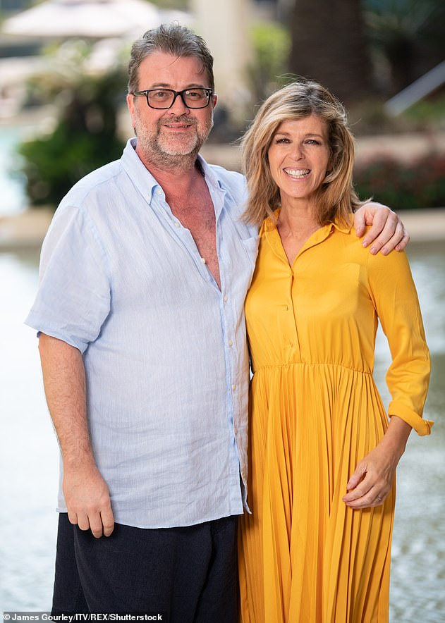 First word: Kate Garraway's husband Derek Draper has spoken for the first time in seven months amid his battle with coronavirus (pictured in 2019)