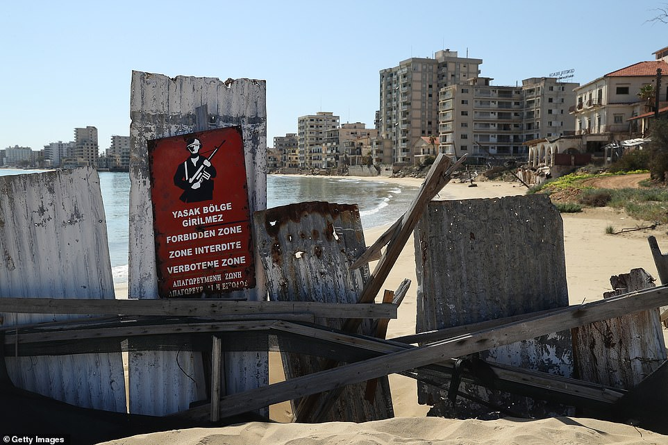 While the city is, as the sign says, a 'forbidden zone', in 2003, travel restrictions were eased for the first time, allowing Cypriots on both sides to cross the UN Buffer Zone, commonly known as the 'Green Line'