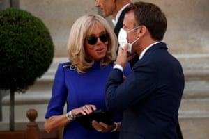 Emmanuel and Brigitte Macron … priorities.