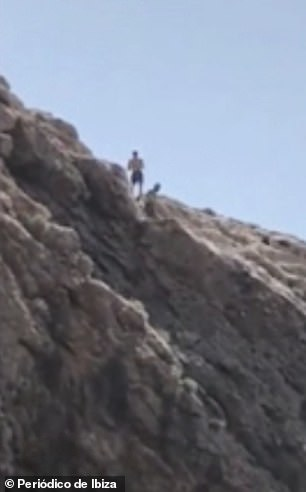 Horrifying moment British tourist leaps into sea off 100ft cliff in Ibiza  and smashes into rocks