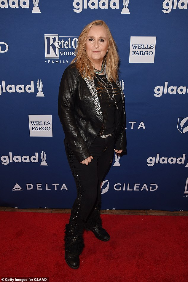 Family tragedy: Melissa Etheridge, 59, opened up about the death of her son Beckett Cypher in May at age 21 from opioid addiction in an interview with Rolling Stone published Thursday; shown in 2018
