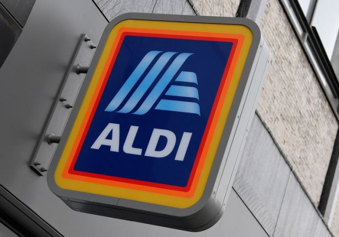 © Reuters. Signage is seen at a branch of Aldi Local, London