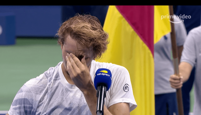 Alexander Zverev breaks down in tears after losing the US Open final to Dominic Thiem