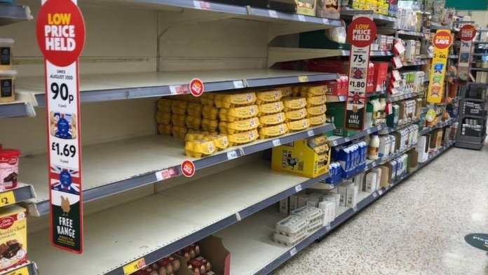Morrisons shelves cleared