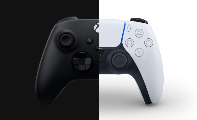 PS5 and Xbox Series X controllers