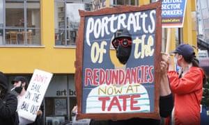 Demonstration outside Tate Modern in July