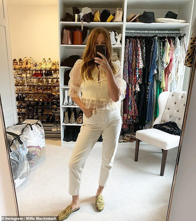 Changes: Millie Mackintosh has revealed she's returning to her sexy lingerie after being forced to give up breastfeeding her daughter Sienna