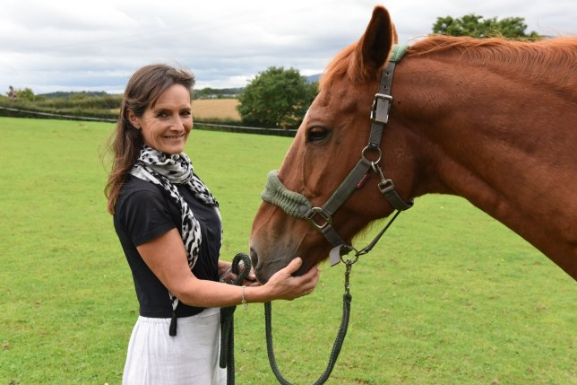 Caroline Mckain, 56, and Fred the Horse