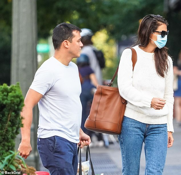 Friendship turned romantic: The duo were first pictured together two weeks ago outside the restaurant Peasant in New York but have known each other for almost a year