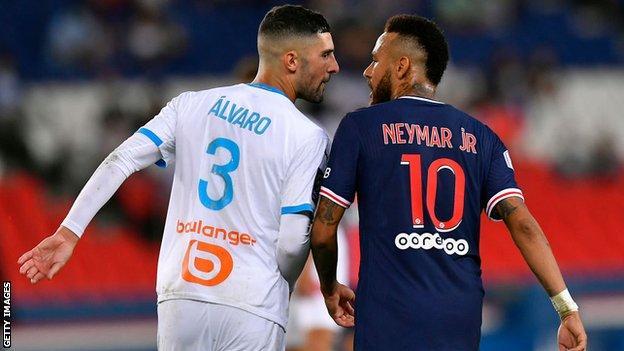 Alvaro Gonzalez and Neymar